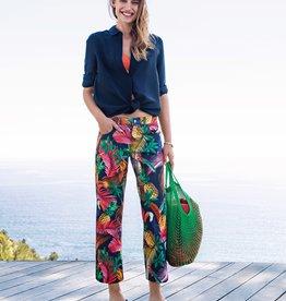 Angels jeans Broek met rechte pijp in tropische print.