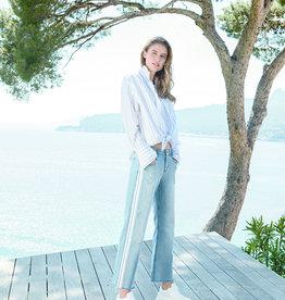 Angels jeans Zomerjeans met rechte pijp en witte streep om zijkant.