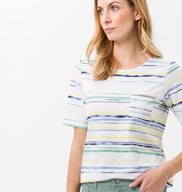 Brax Katoenen t-shirt met strepen