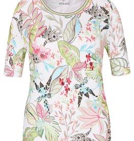 Rabe T-shirt met bloemen in pastel