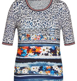 Rabe T-shirt met bloemen en tijgerprint