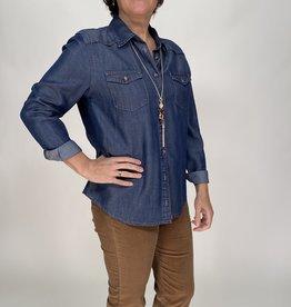 Angels jeans Jeanshemd met lange mouwen.