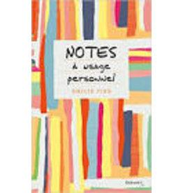CAPELLE Marguerite (tr.) Notes à usage personnel