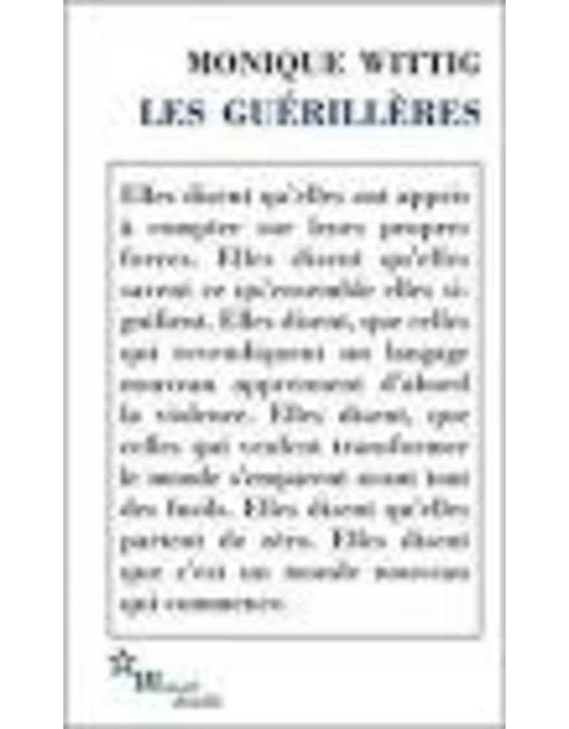 WITTIG Monique Les guérillères