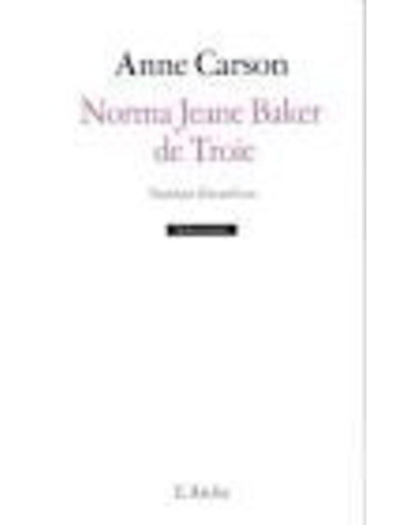 CARSON Anne Norma Jeane Bakerde Troie