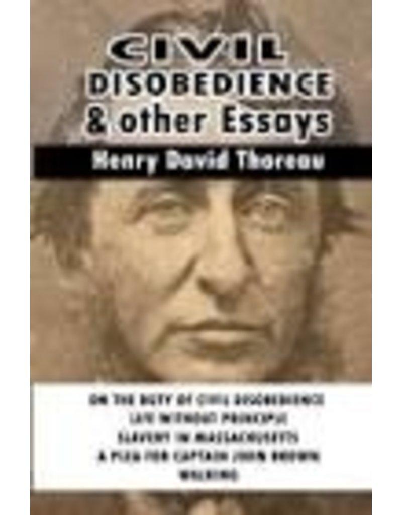 THOREAU Henry David Civil Disobedience & Other Essays