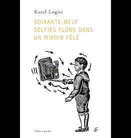 Soixante neuf selfies flous dans un miroir fêlé