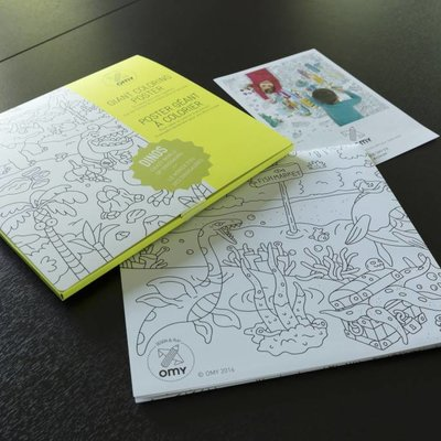 OMY Poster géant à colorier Dino's