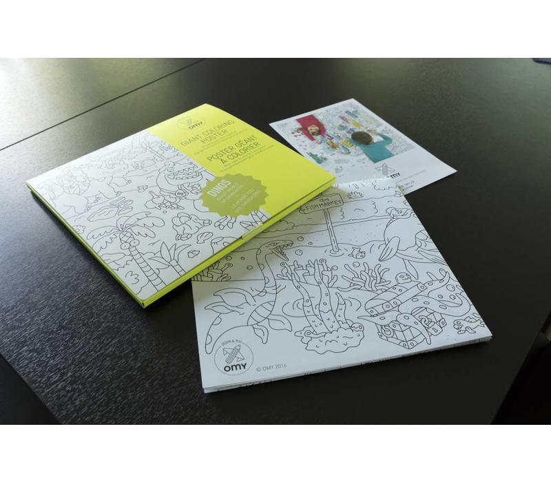 kleurposter dino's