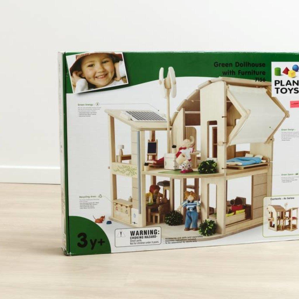 Plan Toys Eco poppenhuis, gemeubeld en instapklaar!