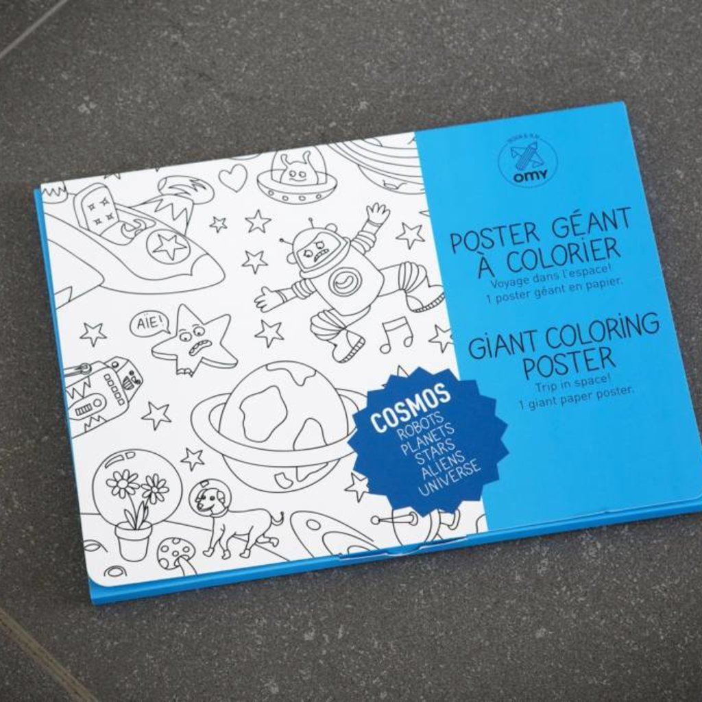 OMY OMY Giant Coloring Poster - Trip in space