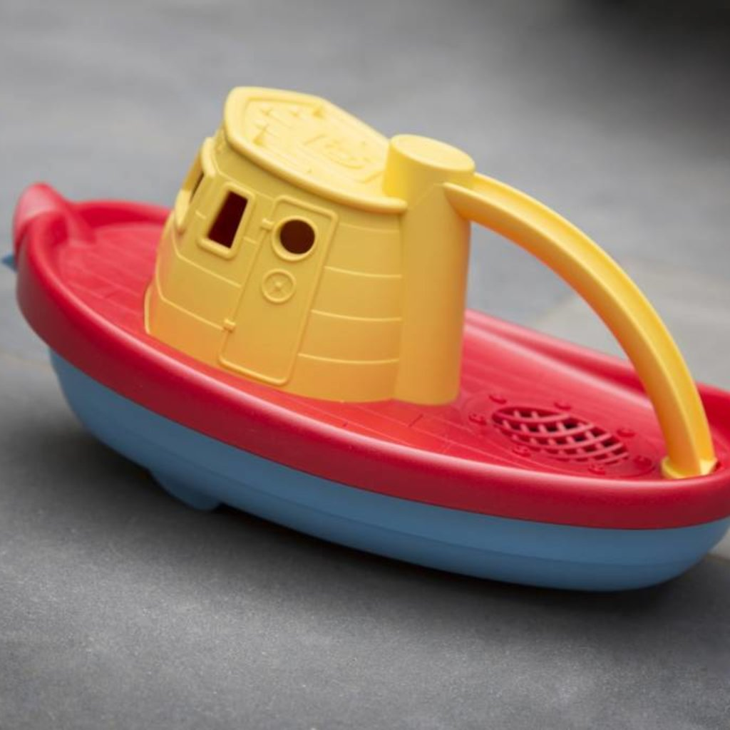 Green Toys Green Toys sleepboot geel