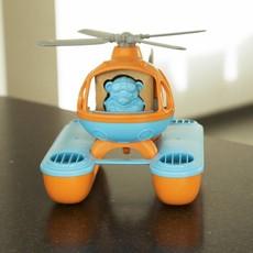 Green Toys Hélicoptère sauvetage en mer orange