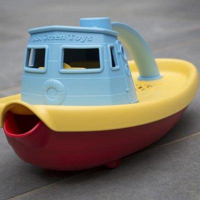 Green Toys Bateau remorqueur bleue