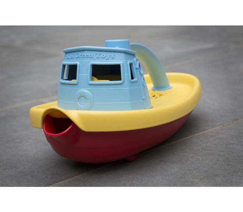 Green Toys sleepboot blauw