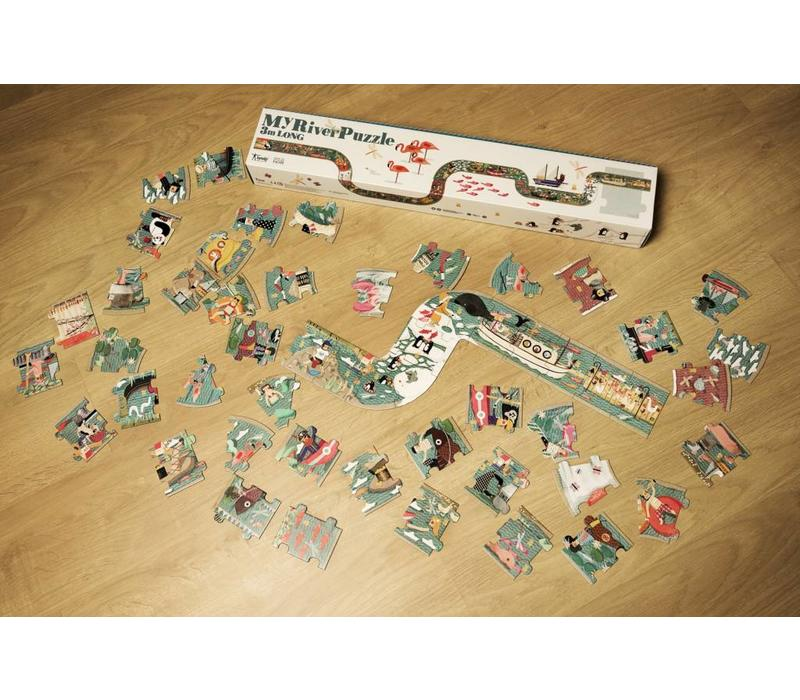 Londji Rivier puzzel 3 meter
