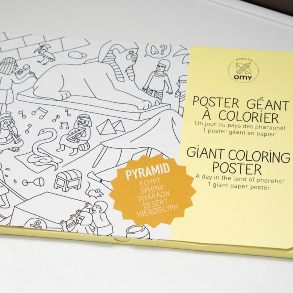 OMY OMY Giant Coloring Poster - A day in the land of pharaohs!
