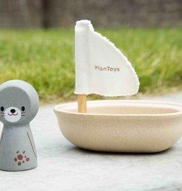 Plan Toys Zeilbootje met zeehond