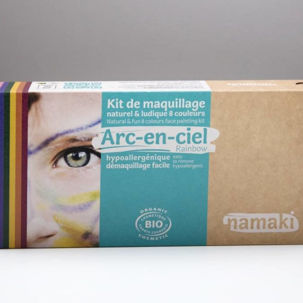 Namaki Bio face painting kit rainbow