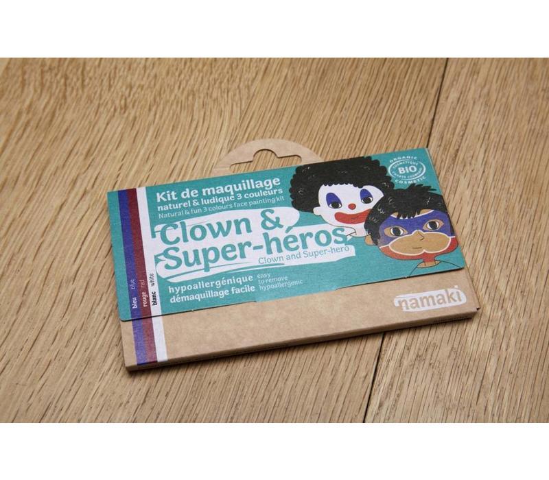 Bio-schminkset clown en superhelden