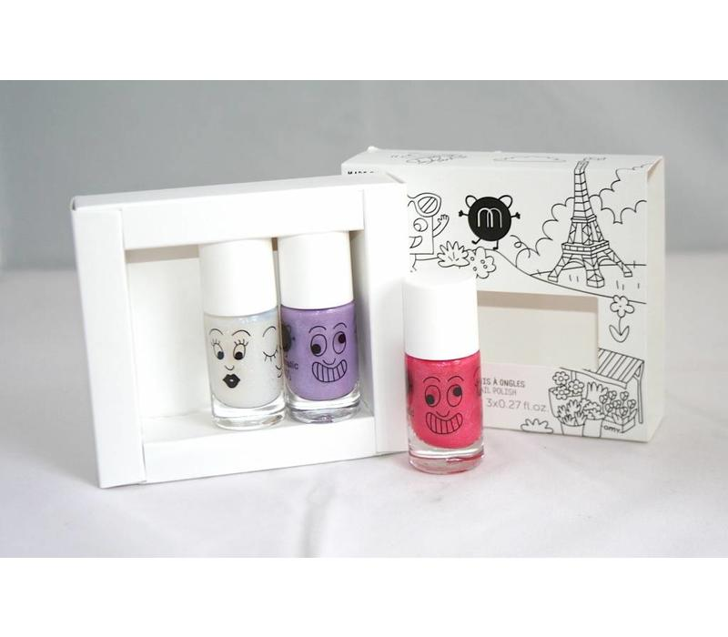 Nailmatic set City: 3 kleuren