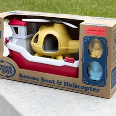 Green Toys Green Toys reddingsboot + helicopter
