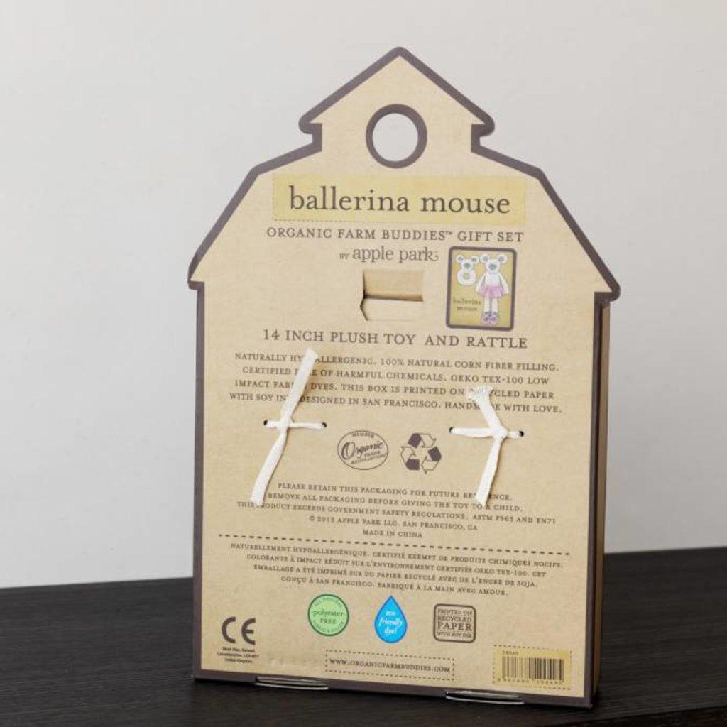 Organic Farm Buddies Set Cadeau Organic Farm Buddies 'Ballerina Mouse'