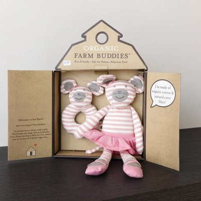 Organic Farm Buddies Knuffel-cadeauset 'Ballerina Mouse'