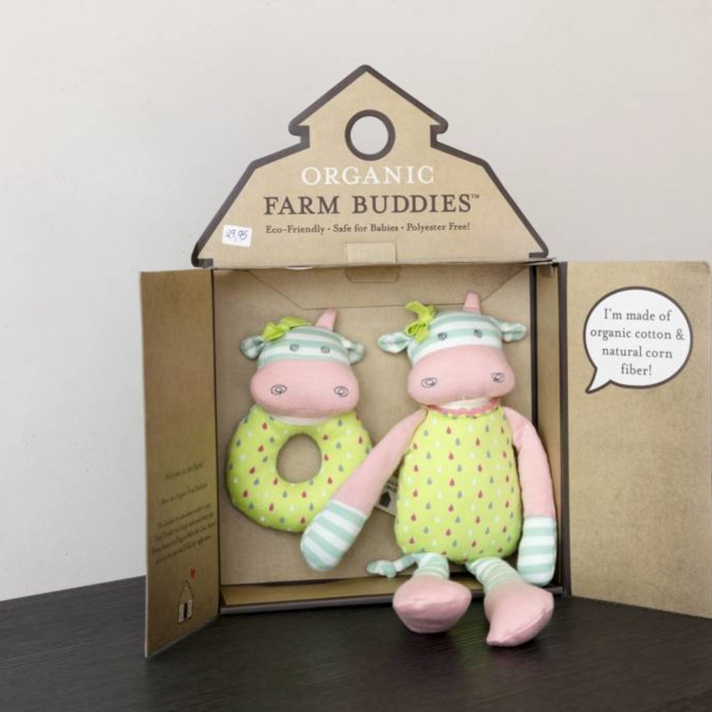 Organic Farm Buddies Organic Farm Buddies Belle Cow cadeauset