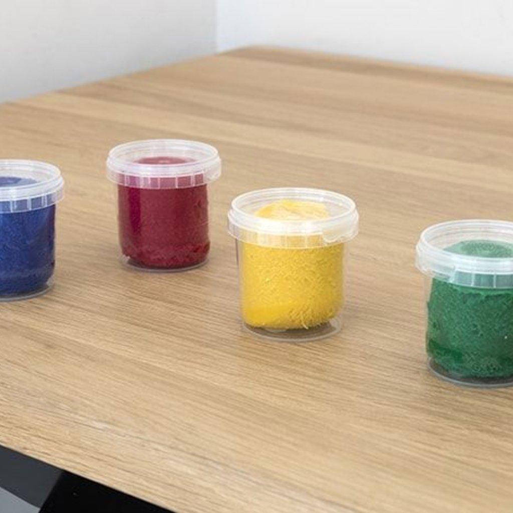 Ökonorm Ökonorm zachte kneedpasta set van 4 kleuren (rood, geel, groen, blauw)