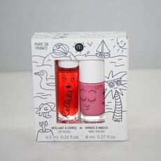 Nailmatic Kit Holidays - Brillant à lèvres et vernis