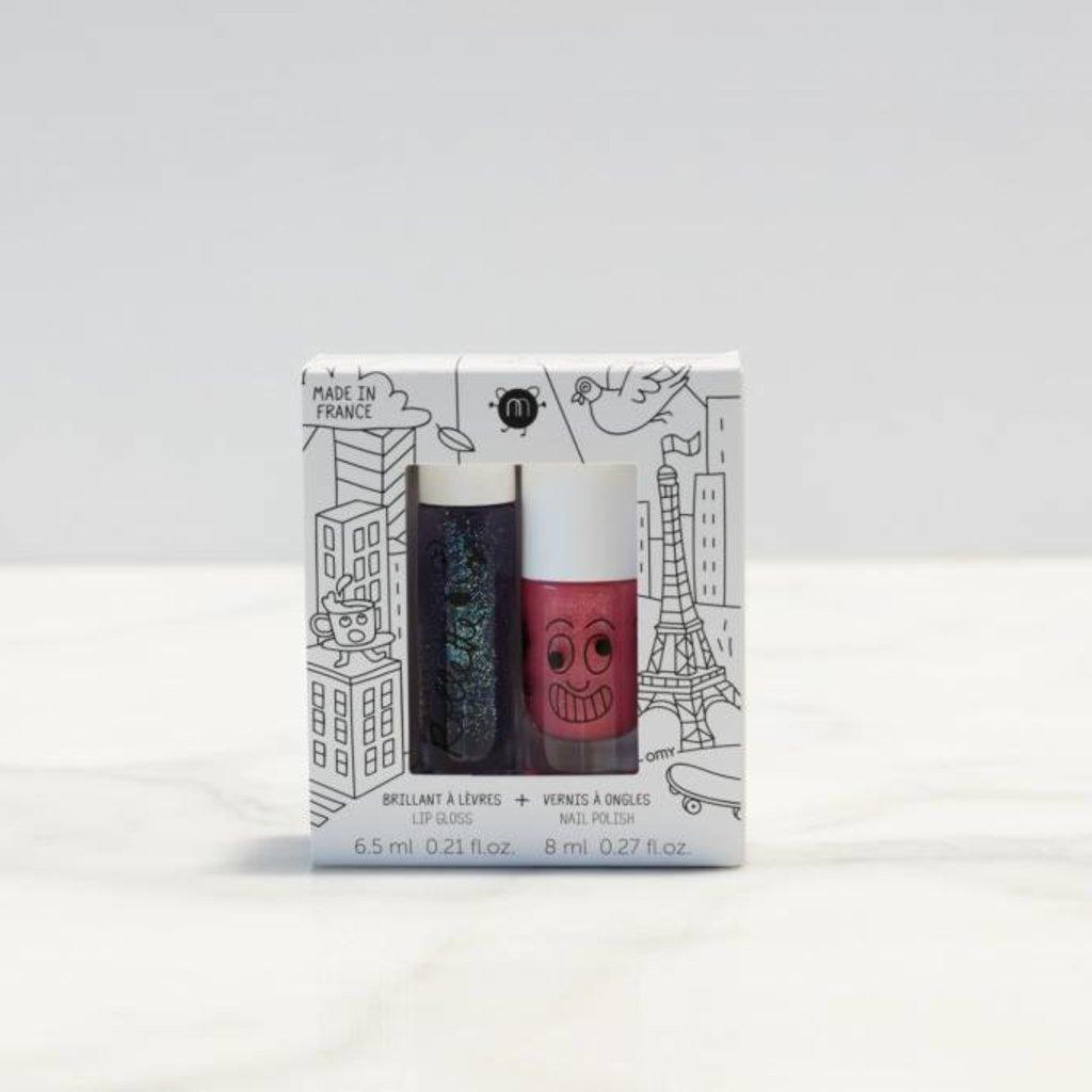 Nailmatic Kit Lovely City - Brillant à lèvres et vernis
