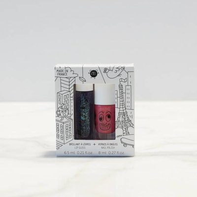 Nailmatic Kit Lovely City - Brillant à lèvres et vernis