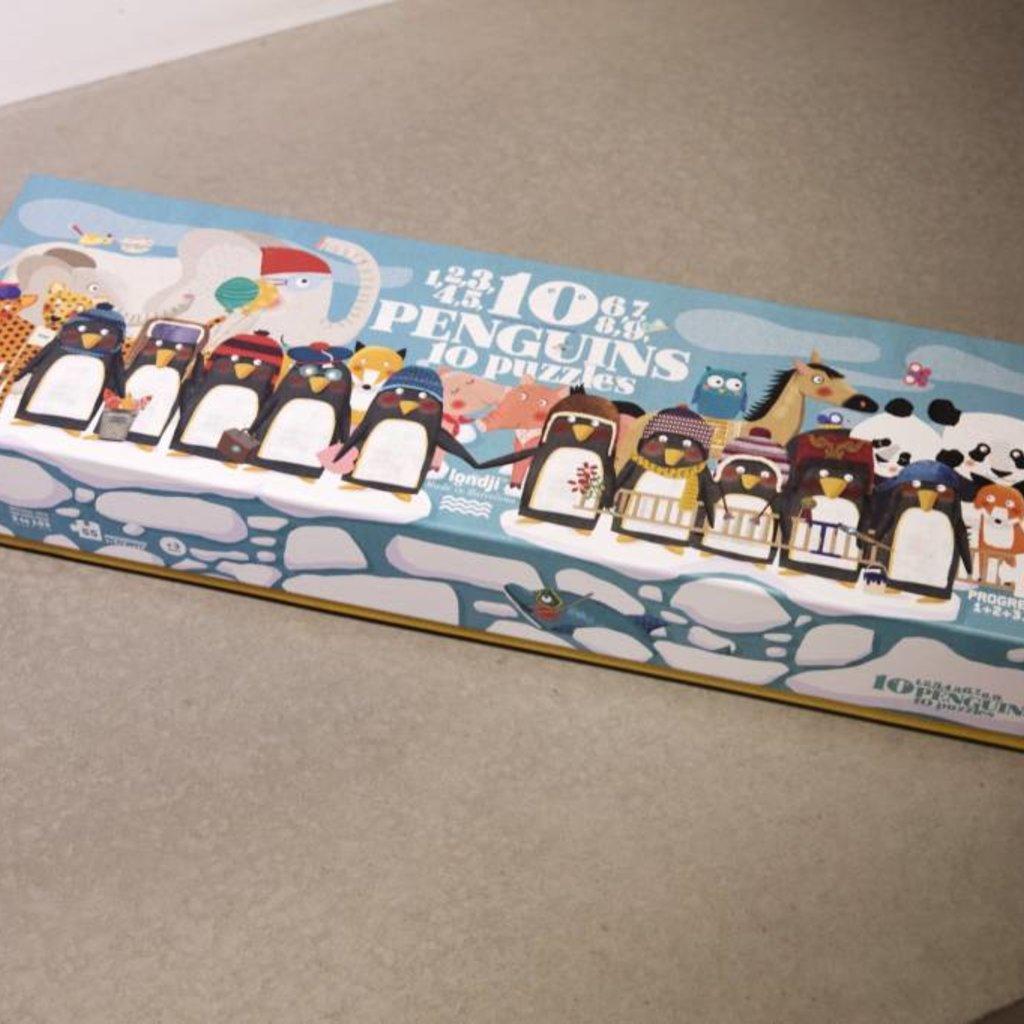 Londji Puzzel 10 Pinguïns op een rij