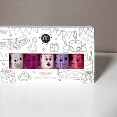 Nailmatic Nailmatic nagellak 'party' set van 5 kleuren