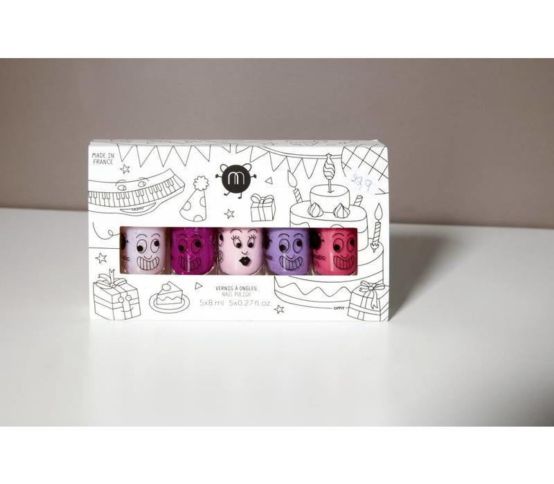 Nailmatic nagellak 'party' set van 5 kleuren
