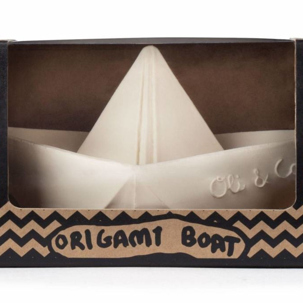 Oli & Carol Oli & Carol natuurrubber origamibootje wit