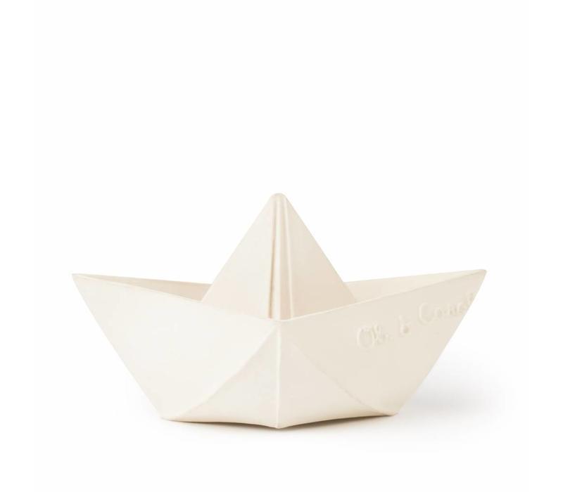 Oli & Carol natuurrubber origamibootje wit
