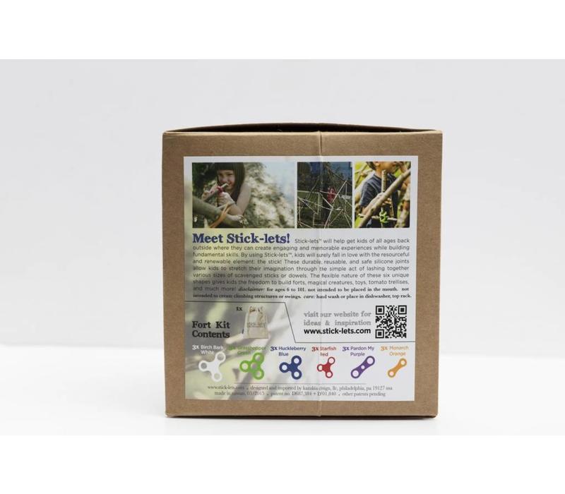 Stick-lets Megafort kit 18 delig
