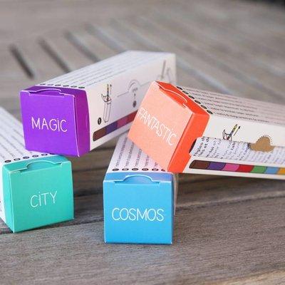 OMY Pocket kleurplaat cosmos