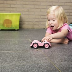 Green Toys Voiture de course rose
