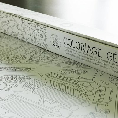 OMY Poster géant à colorier XXL - Paris