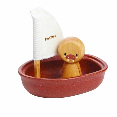 Plan Toys Zeilbootje met walrus