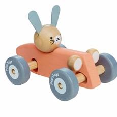 Plan Toys Plan Toys rabbit racing car (pastel)