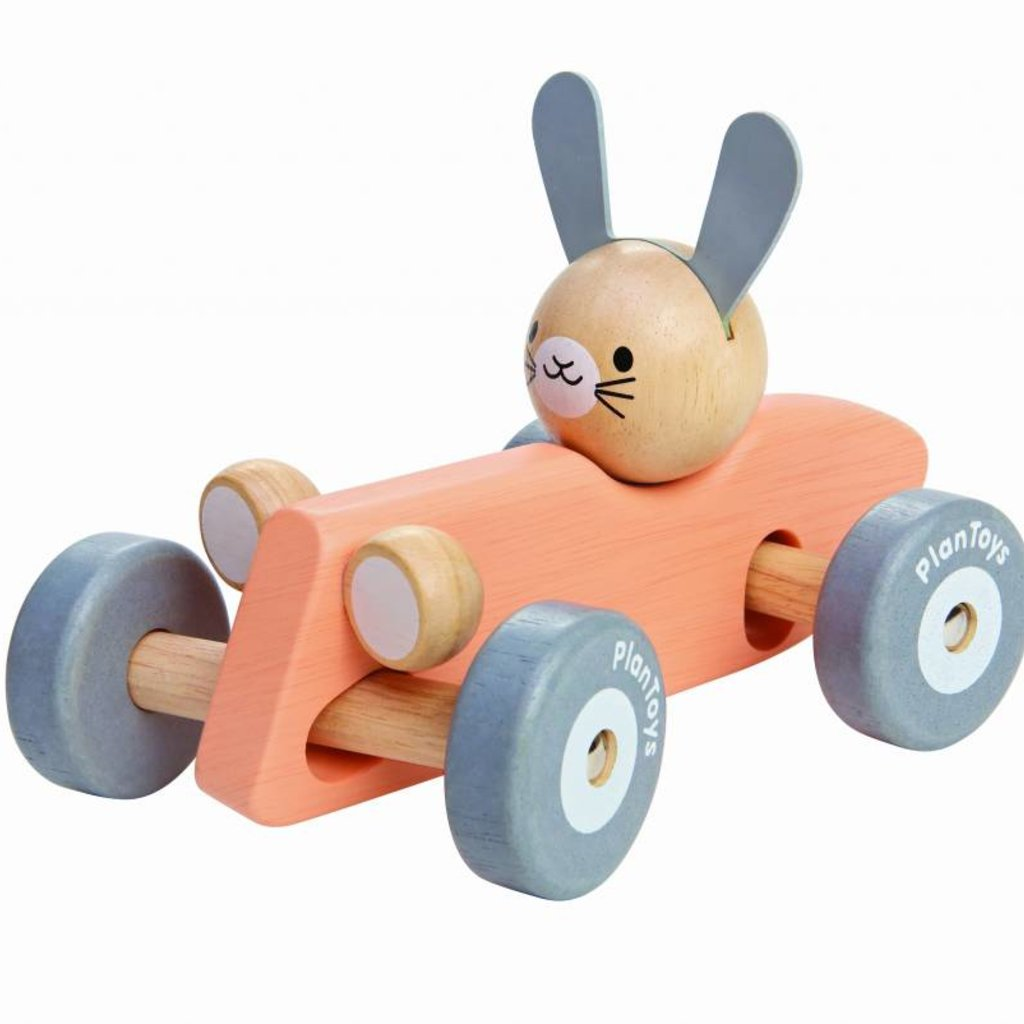 Plan Toys Racewagen konijn (pastel)