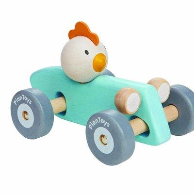 Plan Toys Chicken racing car (pastel)