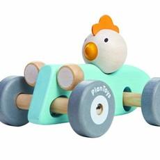 Plan Toys Racewagen kip (pastel)