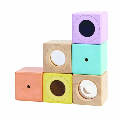 Plan Toys Zintuigblokken pastel