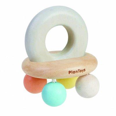 Plan Toys Belletjesrammelaar pastel