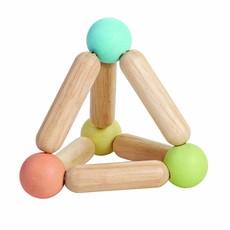 Plan Toys Plan Toys hochet pyramide avec balle pastel